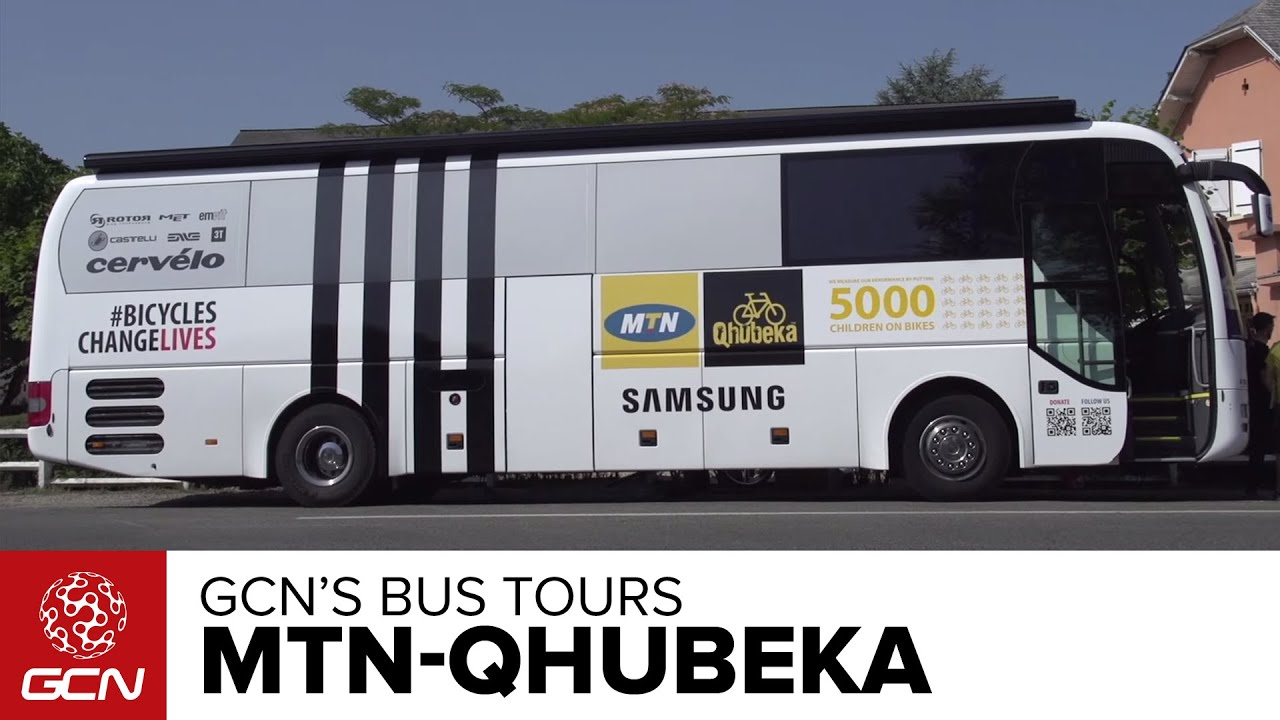 MTN-Qhubeka Bus Tour   Tour De France 2015