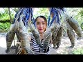Yummy River Prawn Cooking Young Green pepper - River Prawn Stir Fried Recipe - Cooking With Sros