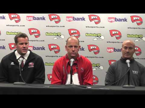 WKU FB HC Jeff Brohm Introduces Brian Brohm and Tony Levine 2-10-15