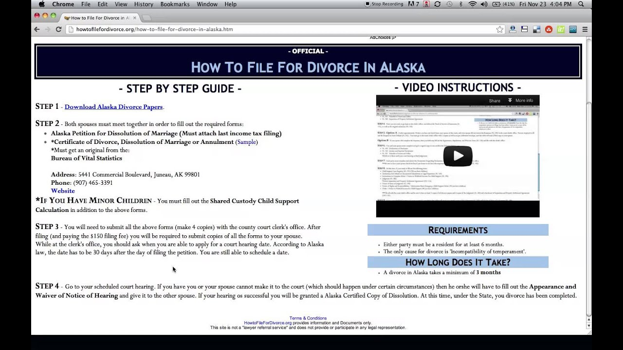How to File For Divorce in Alaska - YouTube
