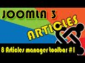 Joomla 3 Tutorials: Articles Manager Toolbar #1