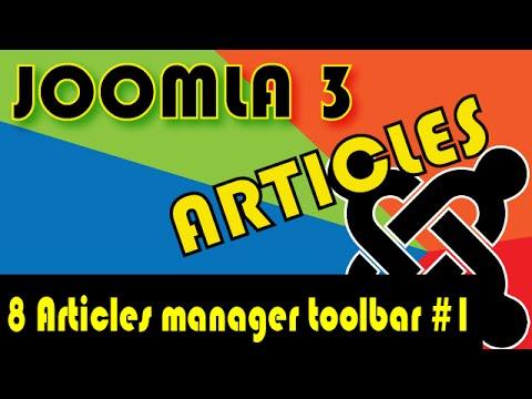 Joomla 3 Tutorials: Articles Manager Toolbar #1