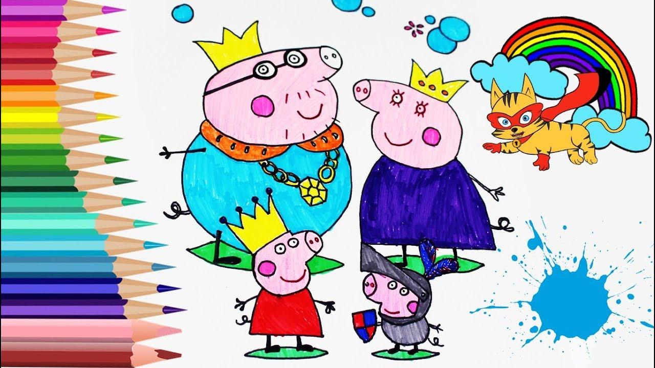 Colorear A Peppa Pig Y A La Familia Pig Juego De Pintar Y Colorear Con Ronino