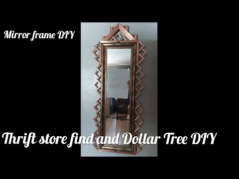 3 Minute  Friday Dollar Tree DIY Mirror Frame (mini Picture Frames)