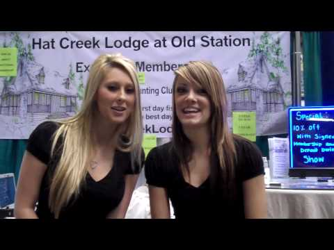 Girls of Hat Creek Lodge at Long Beach Sportsmen's Show