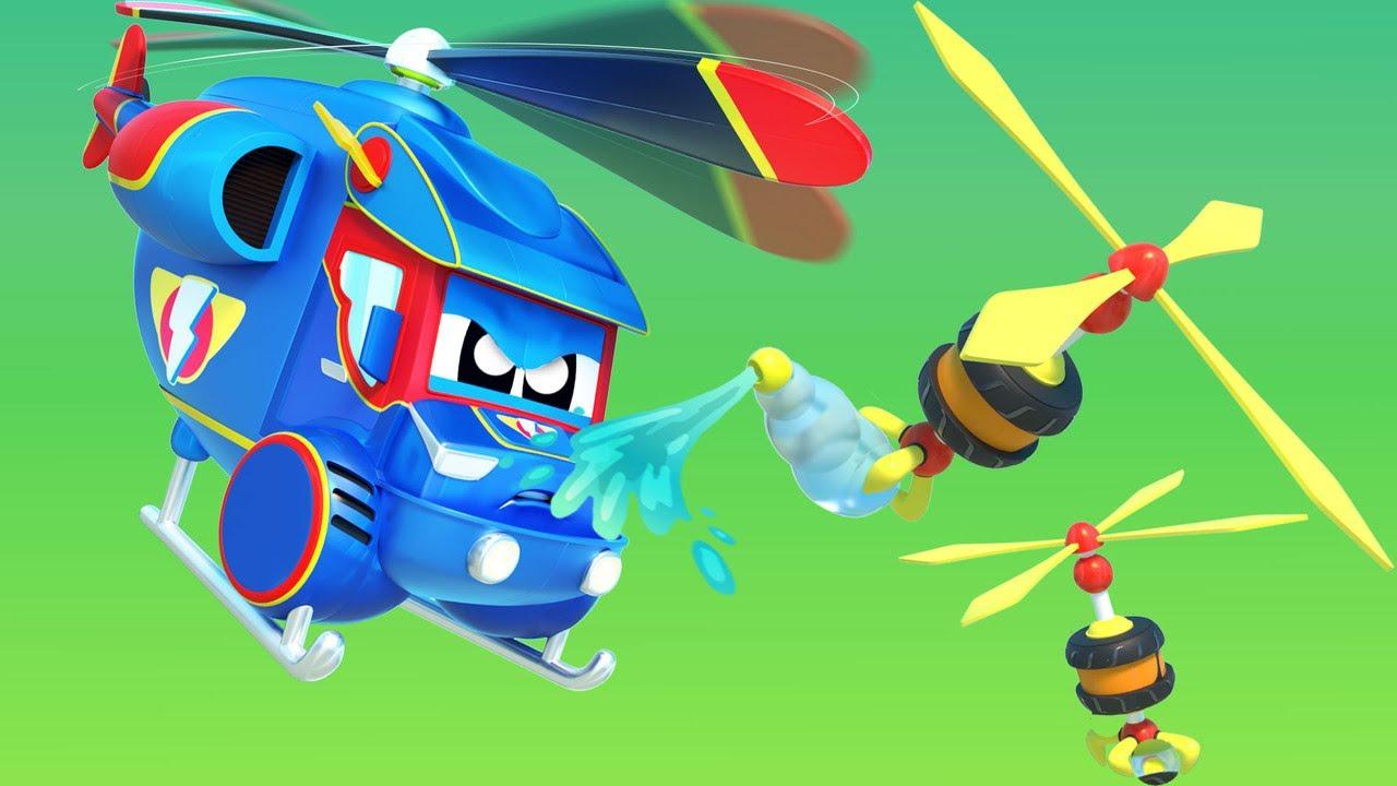 SUPER HELICOPTERO vas por las maquinas Locas! - Auto City - Dibujos Animados pora niños