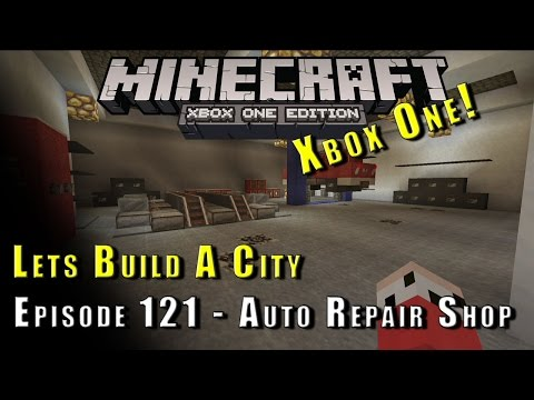 Minecraft :: Lets Build A City :: Auto Repair Shop :: E121