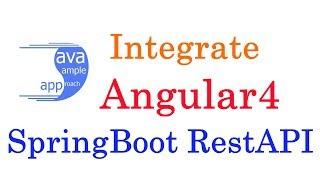 How to Integrate Angular 4 with SpringBoot RestAPI using SpringToolSuite