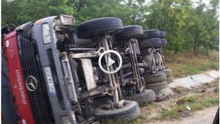 Un camion CAZUT in sant langa Peresecina, Cum a ajuns vehiculul de mare tonaj pe o parte