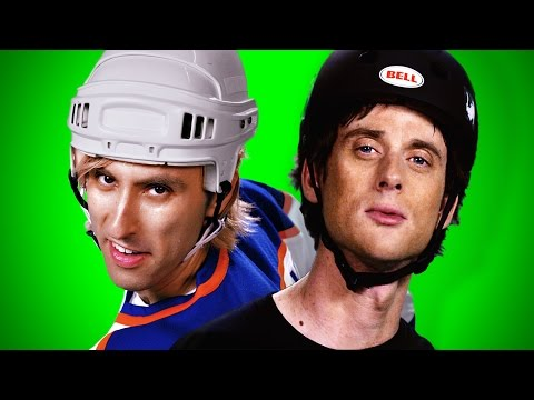 Tony Hawk vs Wayne Gretzky - ERB Behind the Scenes