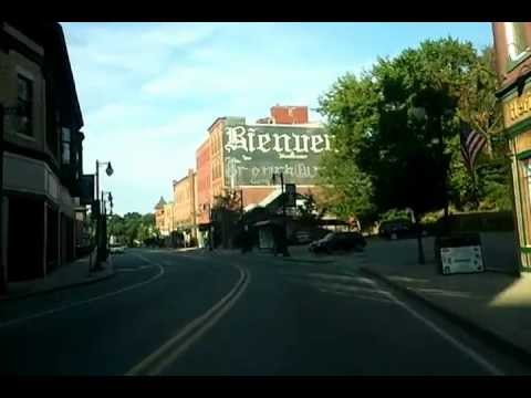 Driving through Main Street Woonsocket RI