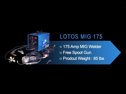 LOTOS MIG175 175 Amp MIG Welder Installation Guide and Demonstration