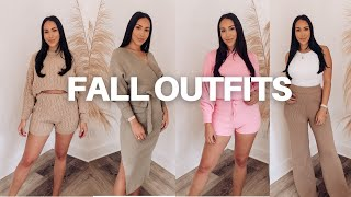 FALL OUTFIT TRY ON HAUL! Matching Sets & Cozy Sweaters