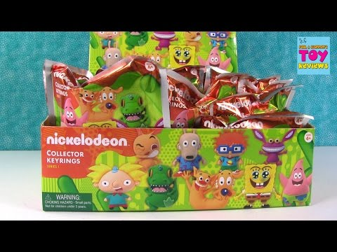 Nickelodeon Series 1 Figural Keyrings Blind Bags Rugrats Spongebob Arnold | PSToyReviews