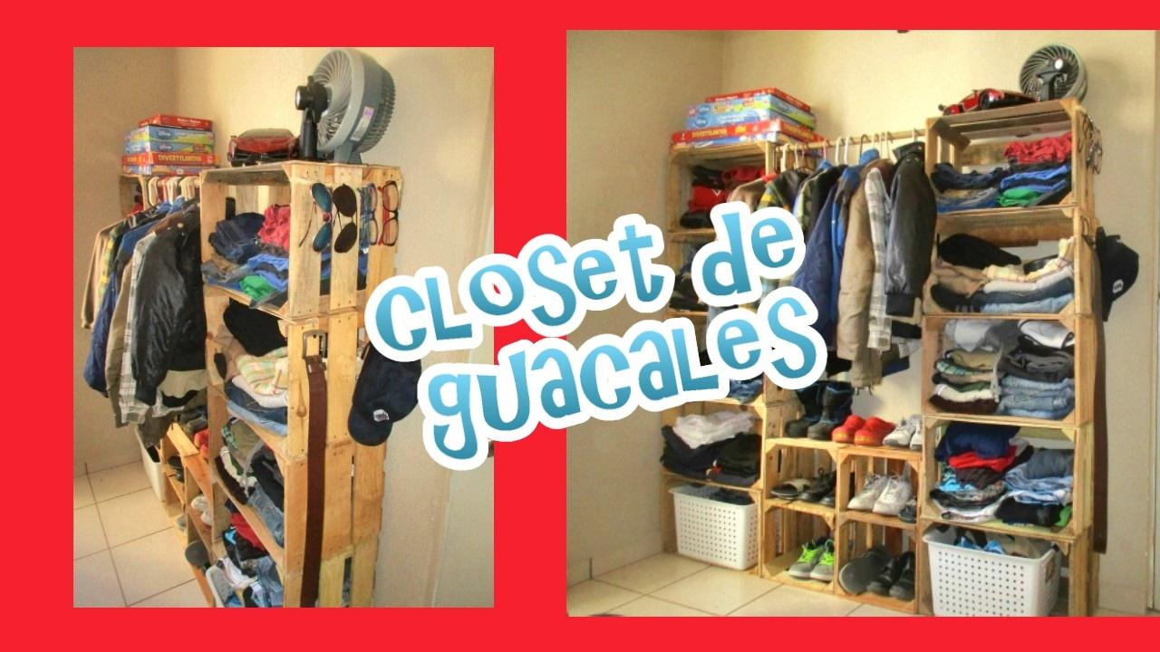 Ideas Para Hacer Un Closet Con Guacales Reciclaje Youtube