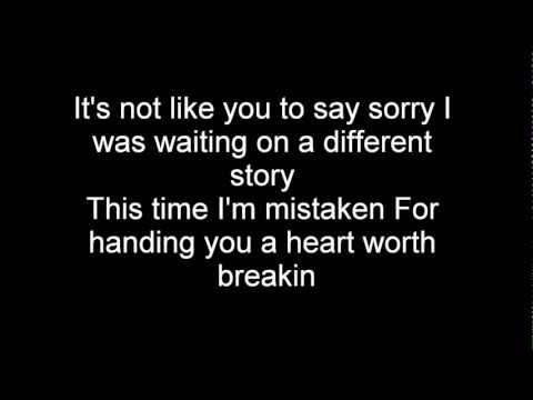 Nickelback- How you remind me- lyrics (HQ) (HD)