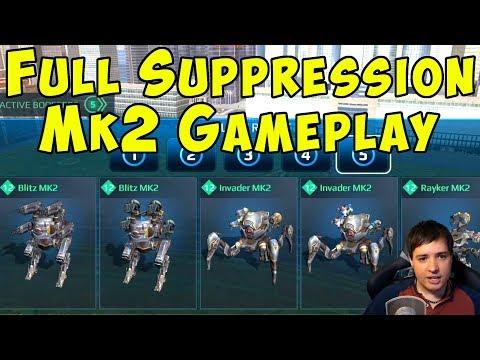 Total Suppression Robots Dominance - Mk2 & Boosted War Robots Gameplay WR