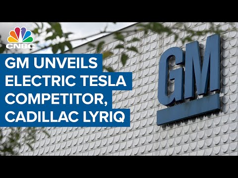 GM unveils its electric Tesla competitor, the Cadillac Lyriq