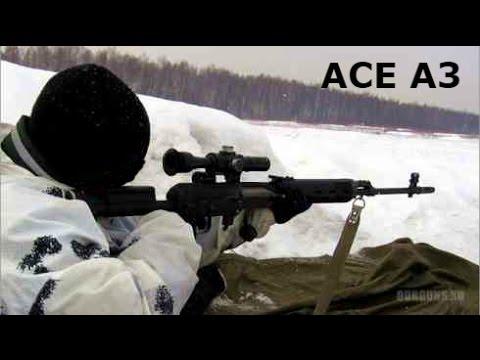 Стрельба с СВД на 1000 м В Симуляторе СНАЙПЕРА Ace 3 мод для Arma 3 на ПК