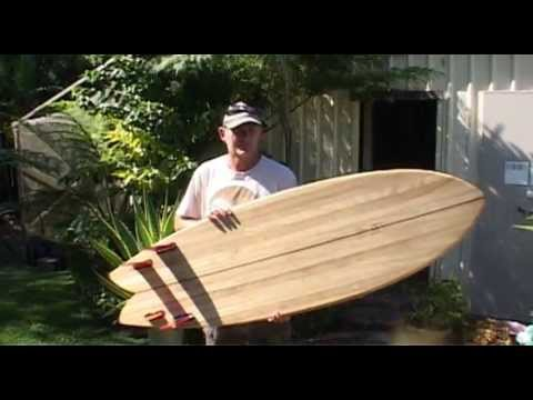 "How to make a chambered wooden surfboard.......The ""Bogong""."