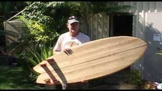 How to make a chambered wooden surfboard.......The