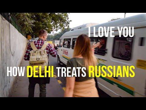 How Delhi treats Russians   Chandni Chowk   Palika   Connaught Place   India   Travel Vlog