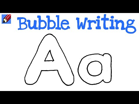 how to draw a bubble letter a how to draw writing real easy letter a 46138
