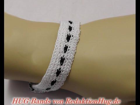 HUG-Bands Häkeln - Armband - Veronika Hug D - YouTube