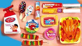 20 DIY BARBIE MINIATURE IDEAS , Miniature Foods and Crafts