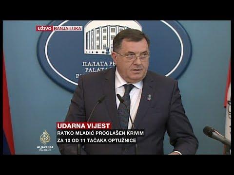 Dodik: Za Mladića je rezervisano mjesto heroja