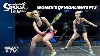 Squash: Women's QF Roundup Pt.1 - Squash de Nantes 2018