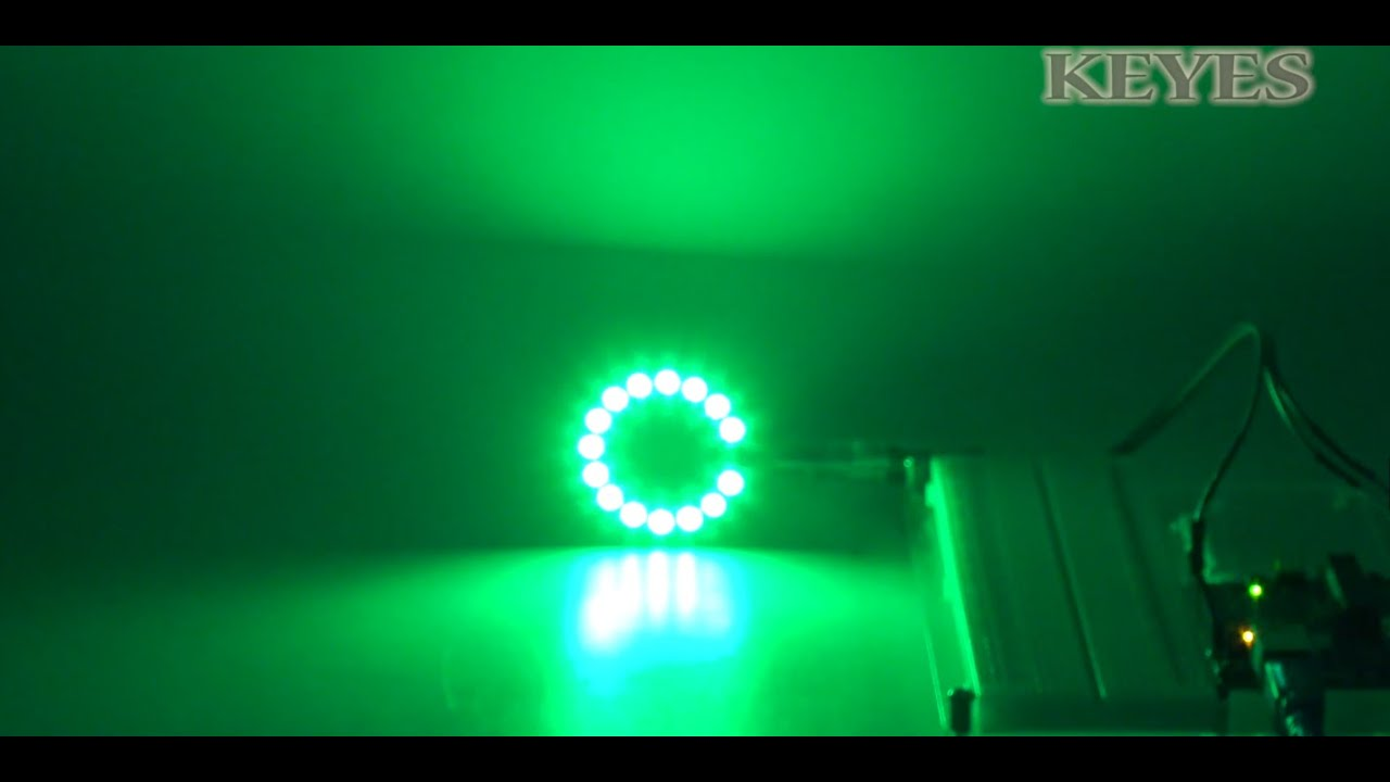 Keyes Ws2812 16bit Full Color Rgb Led Module Circular Board Red Pcb To The Light Emitting Diode Using Snap Circuits Do It Yourself Youtube