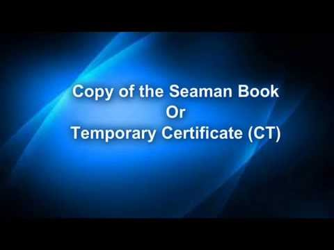 Requirements for Panama Seaman Book or CDC, Document checklist for Oil Tanker Endorsements