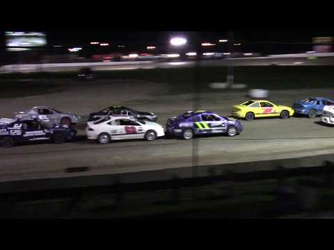 Ransomville Speedway 4 Cylinder Feature Highlights 8-21-17