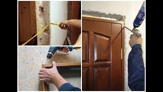видео Установка межкомнатных дверей своими руками