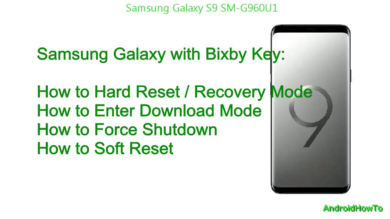 Hard reboot samsung s9