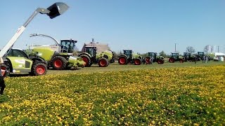 Pokazy polowe maszyn zielonkowych CLAAS Prochy 2016   AGRO-LAND  