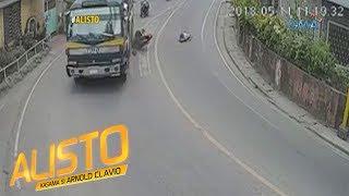 Alisto: Over-speeding na motorsiklo, sumalpok sa kasalubong na truck!