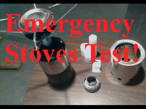 Survival stove Review - Beer can stove, wood gasifier, Propane Stove, fuel cube and candle