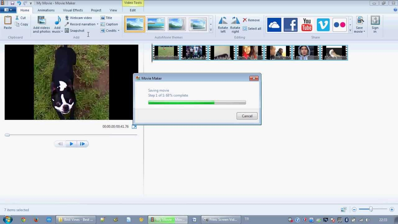 how to make a short video on windows movie maker