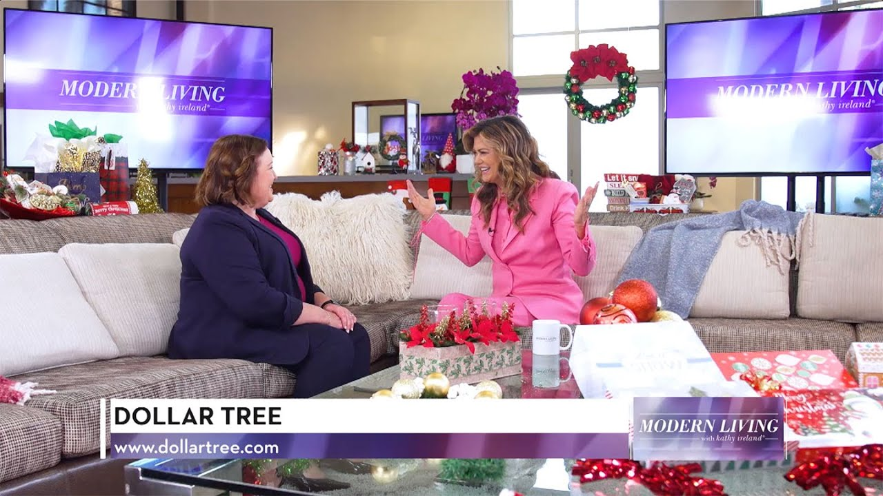 Getting Ready for the Holidays with Dollar Tree on Modern Living with kathy ireland®