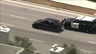 CALIFORNIA POLICE CHASE ENDS IN EPIC CRASH