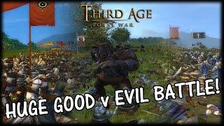HUGE GOOD v EVIL BATTLE! Third Age Total War Multiplayer Gameplay