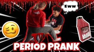 PERIOD PRANK ON BOYFRIEND!!! (GONE WRONG)