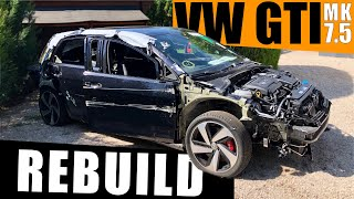 Building a WRECKED MK7.5 Volkswagen GTI in 15 Minutes like Throtl