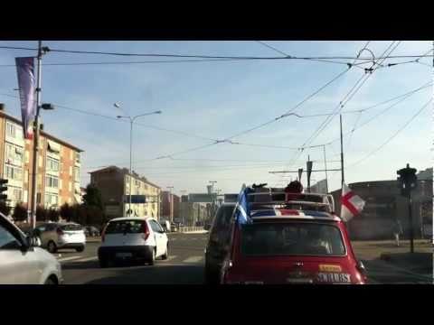Driving through Turin