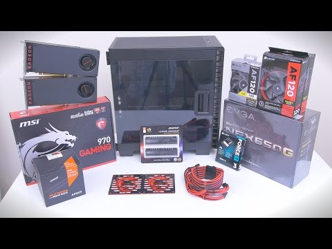 $1000 Gaming PC | Dual RX 480 - Time Lapse Build