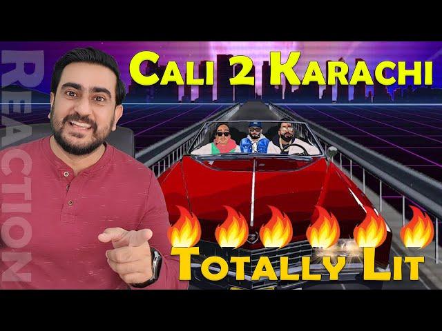 CALI 2 KARACHI REACTION   Talha Anjum   Talhah Yunus (Feat. J.Hind)