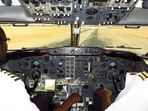 Air Zimbabwe 737-2N0/Adv Cockpit - Approach & Landing Rwy 13 at Bulawayo Joshua Mqabuko Nkomo (BUQ)