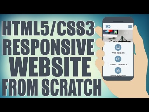 HTML5/CSS3 Responsive Website From Scratch - Design A Website Start To Finish
